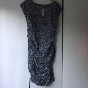 NWT ANN TAYLOR SHIRRED SILK DRESS SZ 12